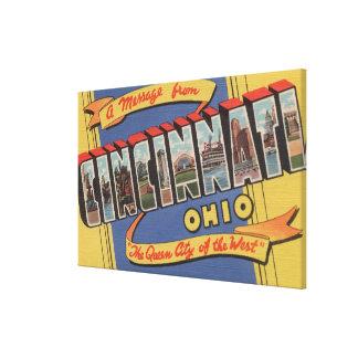 シンシナチ、オハイオ州-大きい手紙場面2 キャンバスプリント