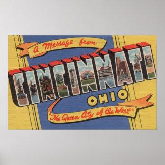 シンシナチ、オハイオ州-大きい手紙場面2 ポスター