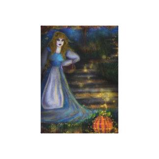 シンデレラおよび魔法のカボチャキャンバスのプリント キャンバスプリント