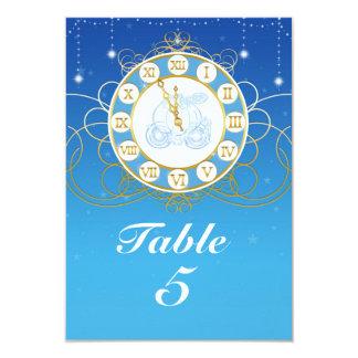 シンデレラのほとんど真夜中の青いテーブル数カード カード