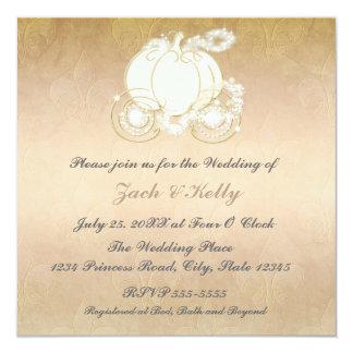 シンデレラのプリンセスキャリッジ結婚式招待状 カード