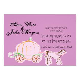 シンデレラの紫色の結婚式招待状 カード