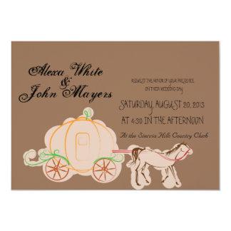 シンデレラの茶色の結婚式招待状 カード