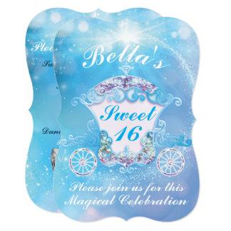 シンデレラの菓子16のバースデーパーティ招待状 カード