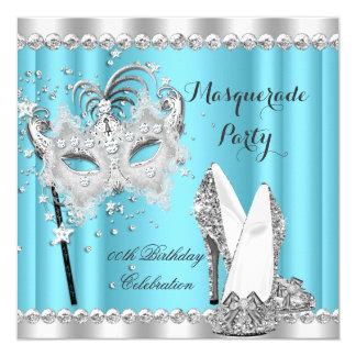 シンデレラの青い仮面舞踏会のマスクは誕生日をかかとで蹴ります カード