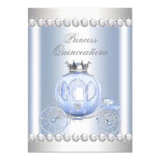シンデレラの青い銀製のプリンセスキンセアニェラ カード