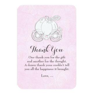 シンデレラキャリッジピンクの物語の本のサンキューカード カード