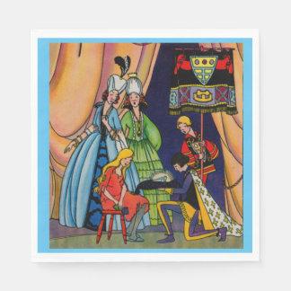 シンデレラ、王子およびガラススリッパ スタンダードランチョンナプキン