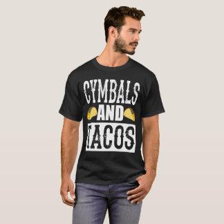 シンバルおよびタコスのおもしろいなマーチングバンド Tシャツ