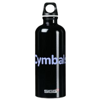 シンバルの文字のヤグルマギク ウォーターボトル