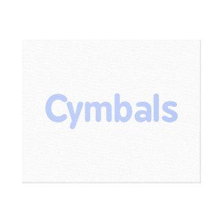シンバルの文字のヤグルマギク キャンバスプリント