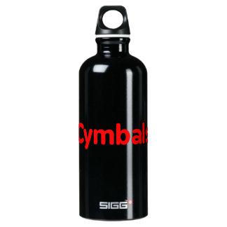 シンバルの文字の赤 ウォーターボトル