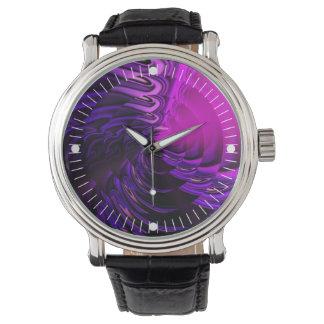 シンバル(紫色|の青) 腕時計