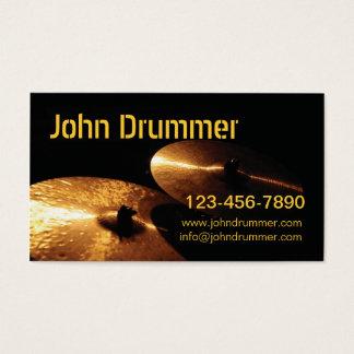 シンバル、www.johndrummer.cominfo@..、ジョンのドラマー。 名刺