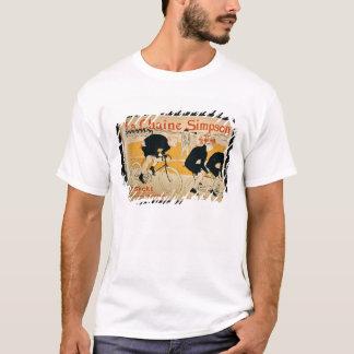 「シンプソンの鎖」、パリ(色のlitho) tシャツ