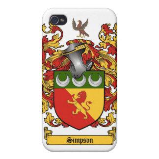 シンプソンの頂上-カバー紋章付き外衣 iPhone 4/4Sケース