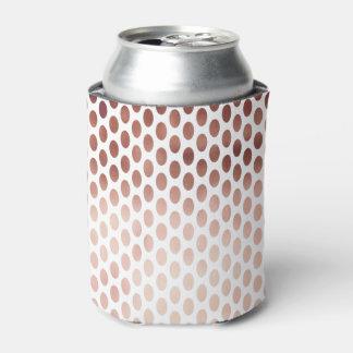 シンプルおよびゆとりののどのばら色の金ゴールドの水玉模様パターン 缶クーラー