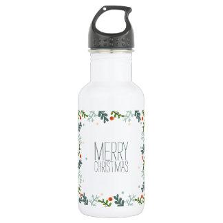 シンプルけれどもエレガントなクリスマスのリースの水差し ウォーターボトル