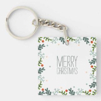 シンプルけれどもエレガントなクリスマスのリース| Keychain キーホルダー