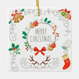 シンプルけれどもエレガントなクリスマスの装飾 のオーナメント セラミックオーナメント