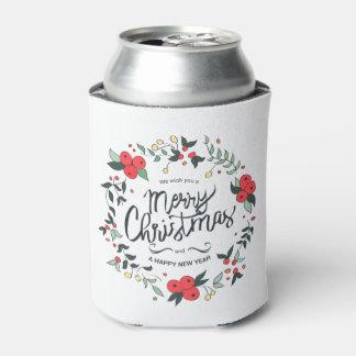 シンプルけれどもエレガントな花のクリスマス のクーラーボックス 缶クーラー