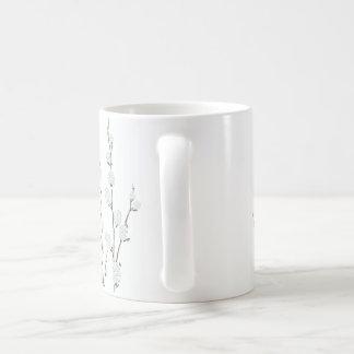 シンプルしかしエレガント。 マグのネコヤナギ コーヒーマグカップ