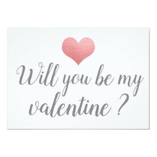 シンプルでかわいいハートは私のバレンタインのロマンチックな原稿です カード