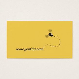 シンプルでかわいいビジネス蜂のグラフィック・デザイン 名刺