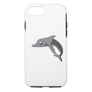 シンプルでかわいい漫画のイルカのかわいい iPhone 7ケース