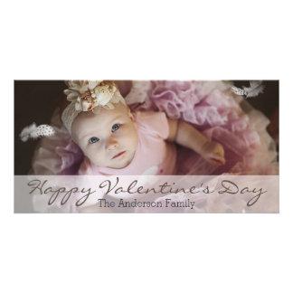 シンプルできれいなバレンタインデーの横の写真 カード