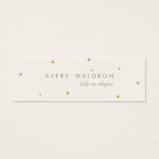 シンプルでエレガントで小さい金ゴールドの星のクリームの白 スキニー名刺