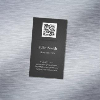 シンプルでエレガントで明白な黒プロフェッショナルQRコード マグネット名刺 (25枚パック)