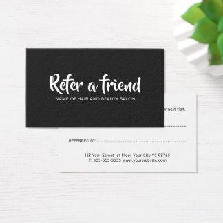 シンプルでエレガントな白黒紹介カード 名刺