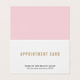 シンプルでエレガントな美しいのアポイントメントカード カード