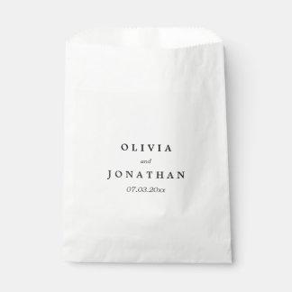 シンプルでエレガントな|クラシックな結婚式の引き出物のバッグ フェイバーバッグ