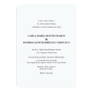 シンプルでクラシックでスペインのな結婚式招待状 カード