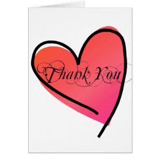 シンプルでスタイリッシュなハートの結婚は感謝していしています カード