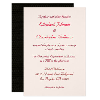 シンプルでモダンでエレガントでカスタムな結婚式招待状 カード
