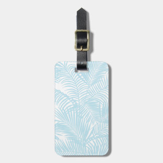 シンプルでモダンなパステル調の青い熱帯ヤシの木 ネームタグ
