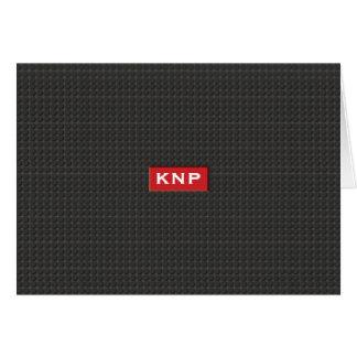 シンプルでモノグラムので黒い踏面NoteCard ノートカード
