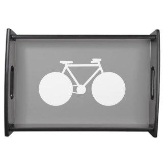 シンプルで写実的で白い自転車 トレー