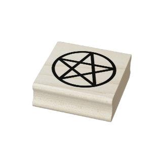 シンプルで写実的な星形五角形 ラバースタンプ