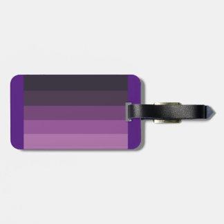 シンプルで及びお洒落な紫色の陰 ラゲッジタグ