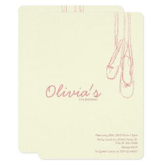 シンプルで及びエレガントで小さいダンサーの招待状 カード