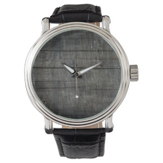 シンプルで及び素朴な納屋板 腕時計