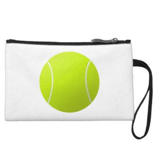 シンプルで明白で白いテニス・ボールの手首のバッグ クラッチ