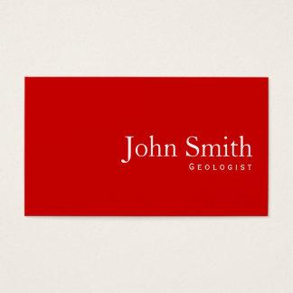 シンプルで明白で赤い地質学者の名刺 名刺