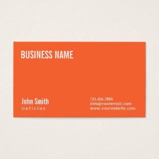 シンプルで明白なオレンジ眼鏡技師の名刺 名刺