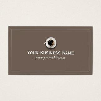 シンプルで明白な喫茶店の名刺 名刺