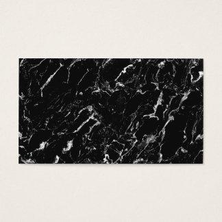 シンプルで明白な黒のカッコいいのモダンな大理石のプロフェッショナル 名刺